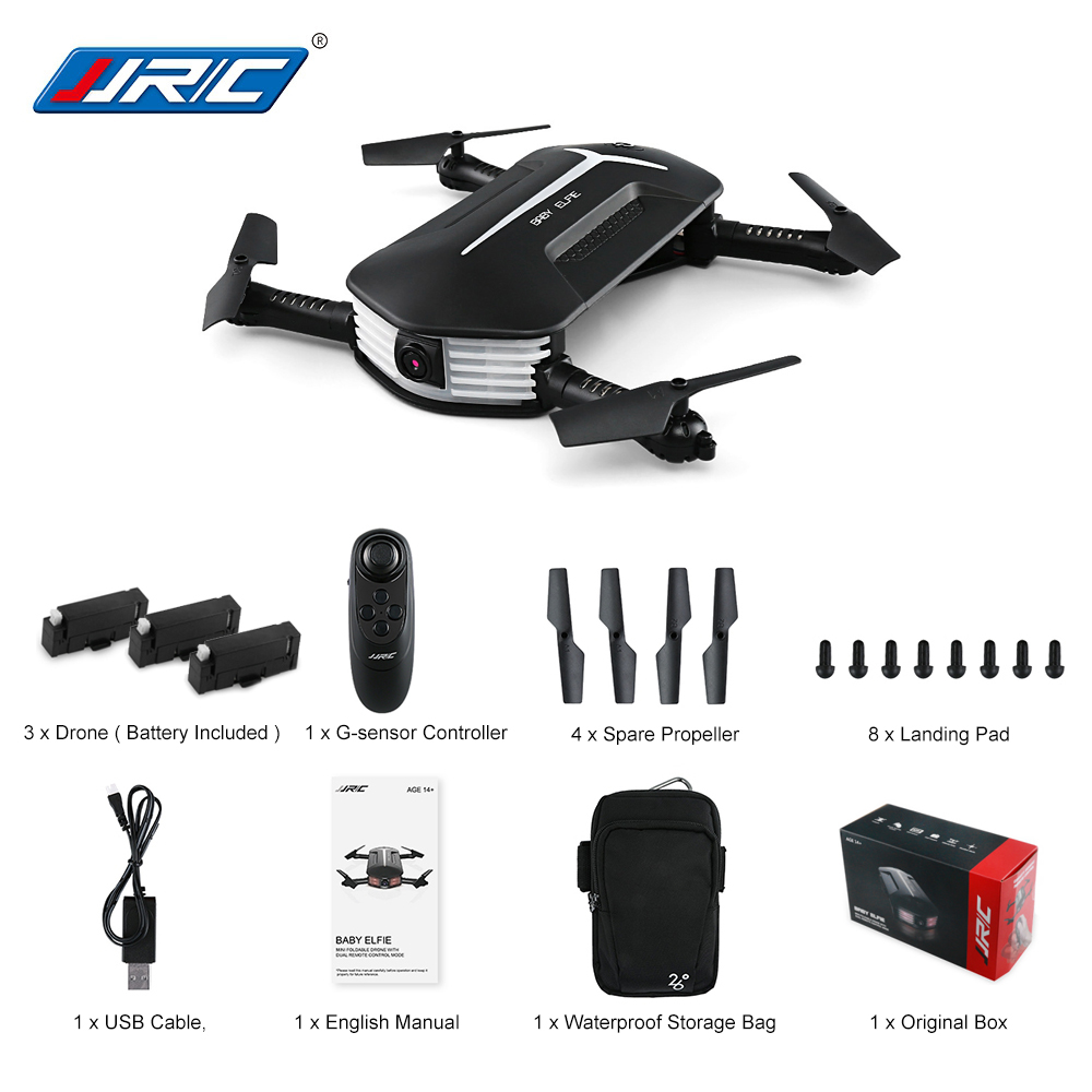 JJRC H37 MINI BABY ELFIE Foldable RC Drone with 720P WiFi FPV HD Camera APP Waypoints G-Sensor Portable RC Helicopter RTF