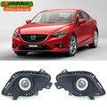 EeMrke Para Mazda6 Atenza 2013 2014 2015 2016 LED Ángel ojo Drl Faros de Halógeno H11 55 W Luz Antiniebla Kits