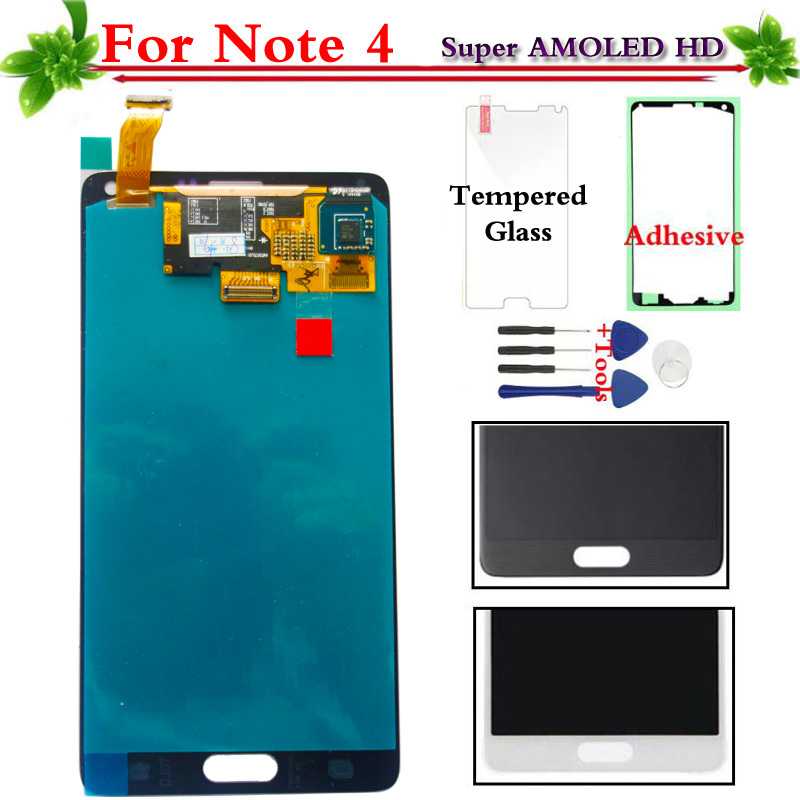 Super AMOLED For Samsung Galaxy Note 4 N910 N910A N910F N910H LCD Display Touch Screen Digitizer