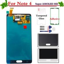 Super AMOLED для Samsung Galaxy Note 4 N910 N910A N910F N910H ЖК-дисплей Дисплей Сенсорный экран планшета Ассамблеи Замена