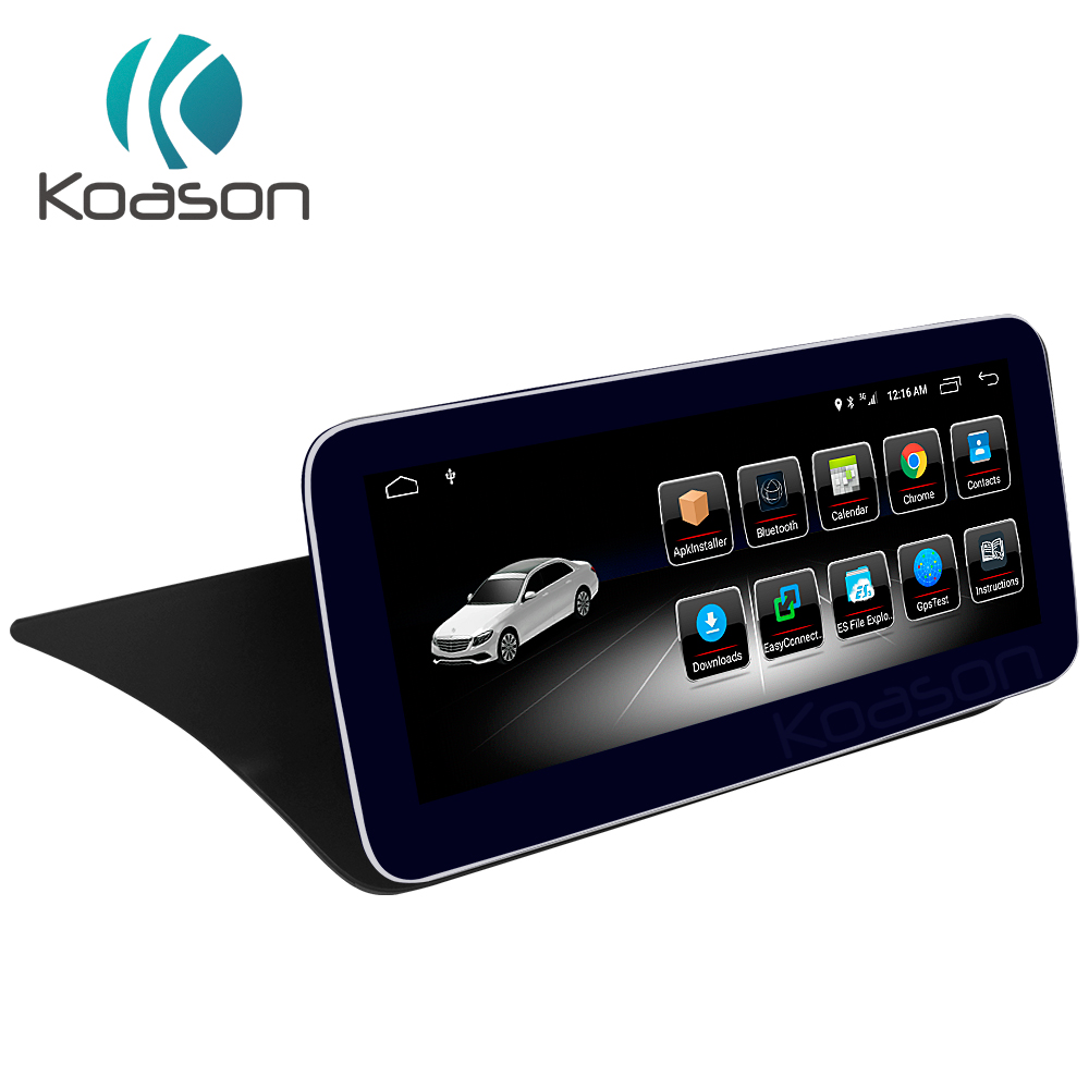 Koason 10.25 IPS LCD Monitor Touch Screen Android8.1 Car GPS Multimedia Player for Mercedes BENZ E class RHD Couple 2013 2014