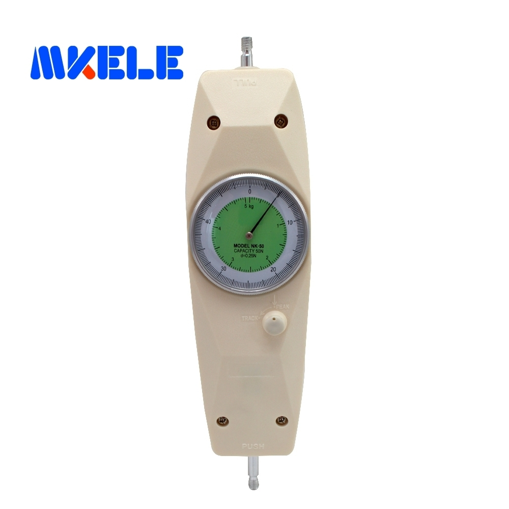 NK-50 50 N Pointer Dynamometer Analog Push Pull Force Gauge Tester Meter nk 200 analog pointer force gauge pull