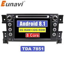 Eunavi 2 Din 7-дюймовый tda7851 Android 8,1 dvd-плеер автомобиля для Suzuki Grand Vitara Радио Стерео gps в тире ПК автомобиля 1024*600 HD wifi
