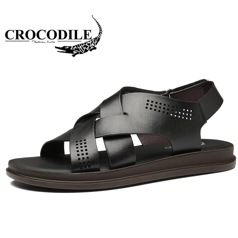 Крокодил на свежем воздухе летом сандалии для Для Мужчинs проветрить износостойкая мужск ...