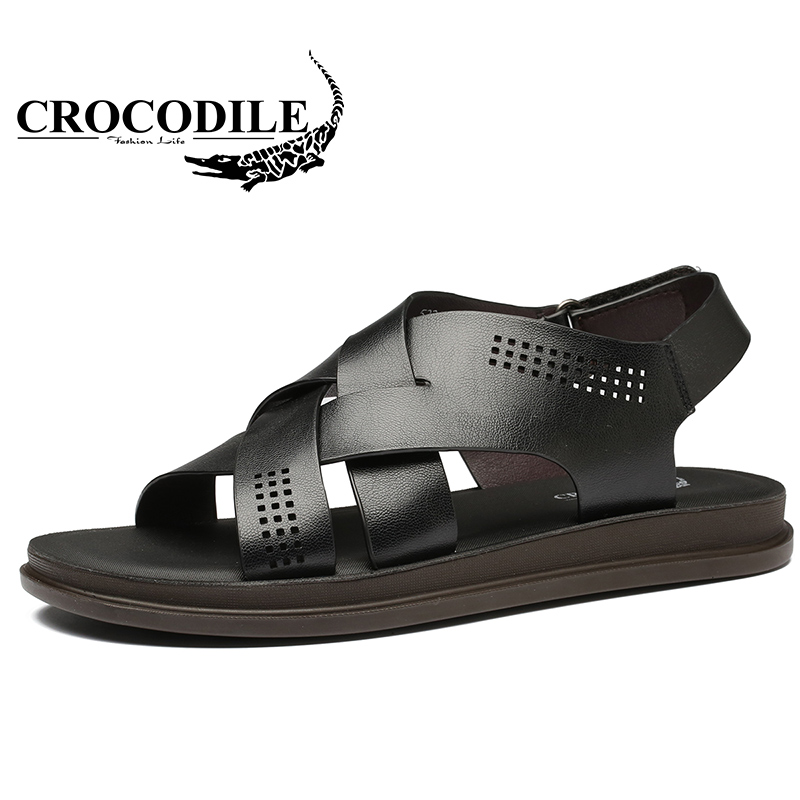 Crocodile Summer Outdoors Sandals For Mens Ventilate Hard-Wearing Men Beach Shoes Male Quick-Drying Traveling Beach Sandals