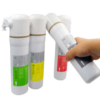 10 inch integrated hollow fiber ultrafiltration membrane water filter quick change uf filter element integrated filter core Coronwater Water Filter Ultrafiltration System UI-4 4 Stage Quick Change Undersink Drinking Water Filter for household IU-4