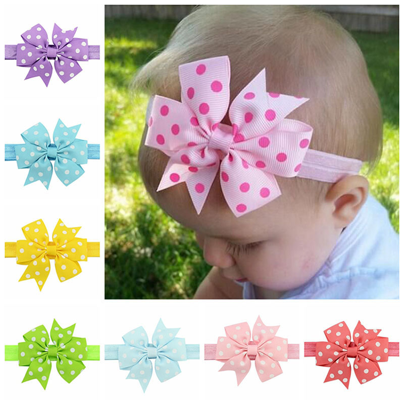 Baby Girl Toddler Cute Lace Crown Headband Headwear Elastic Hair Band Headdress %328/319