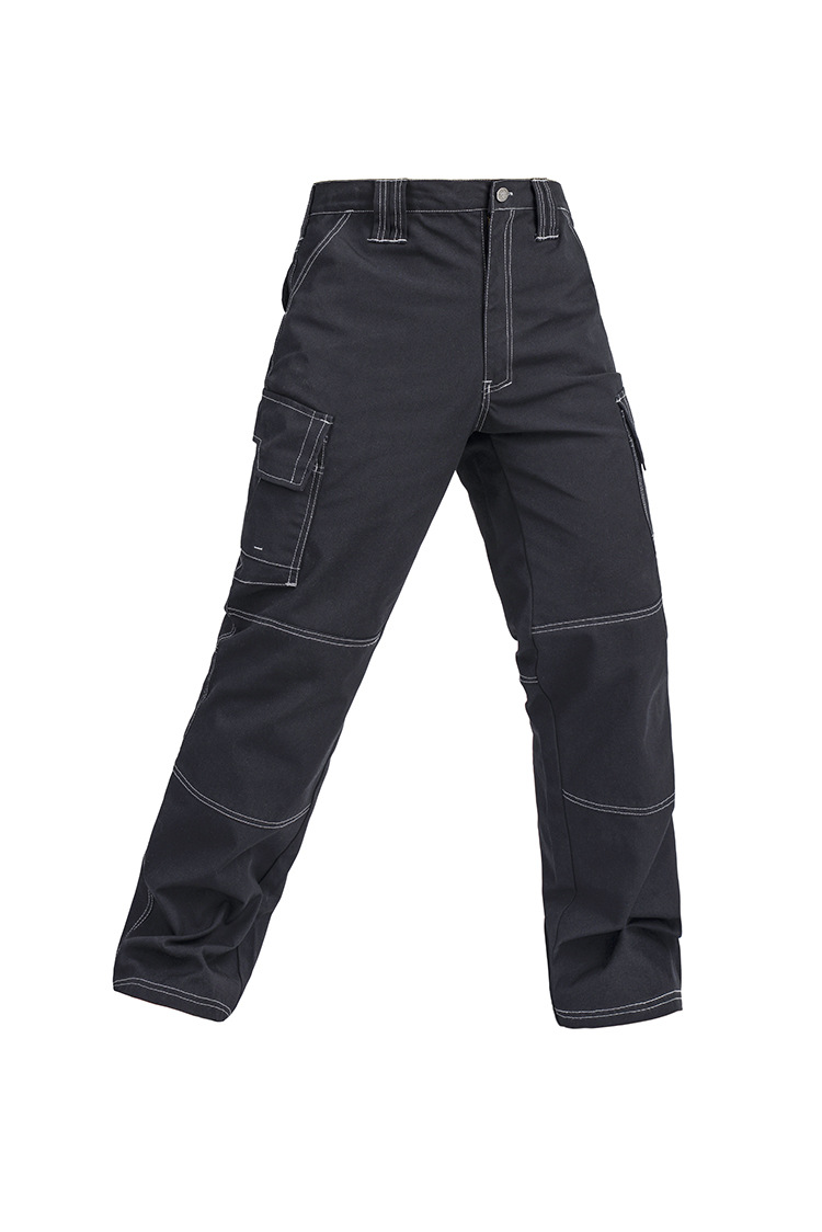 High quality Men's multi-pockets durable black work trousers work pant free shipping jeans men s blue slim fit fashion denim pencil pant high quality hole brand youth pop male cotton casual trousers pant gent life