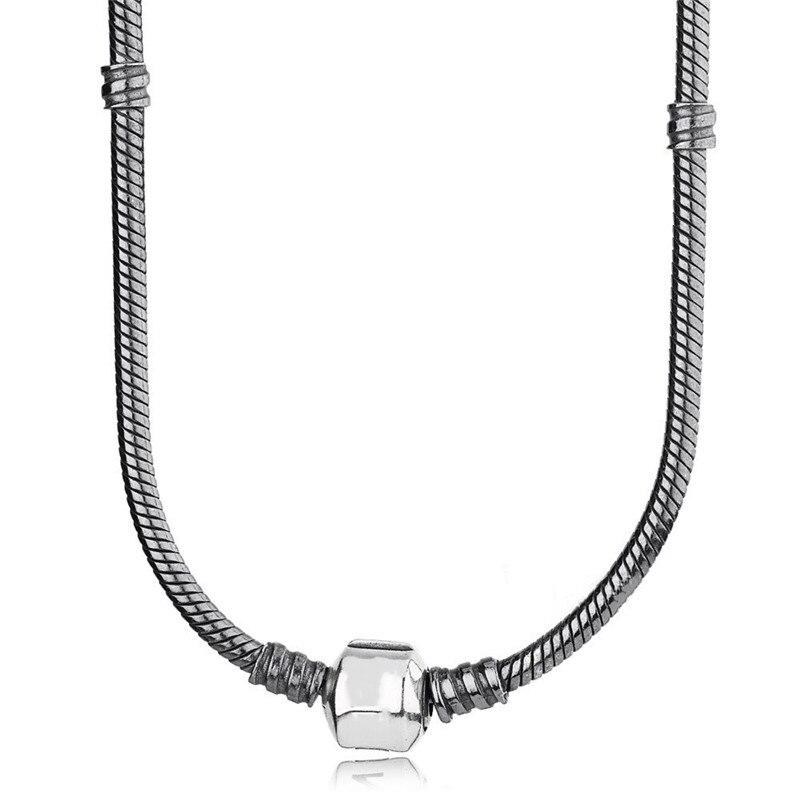2018 classique marque Signature Moments collier 925 argent Original pour les femmes de mariage fête d'anniversaire cadeau Fine Europe bijoux