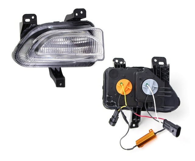 led drl daytime running light clearance light with dim control + yellow moving turn signal for Jeep renegade 2014 2015 2016 2017