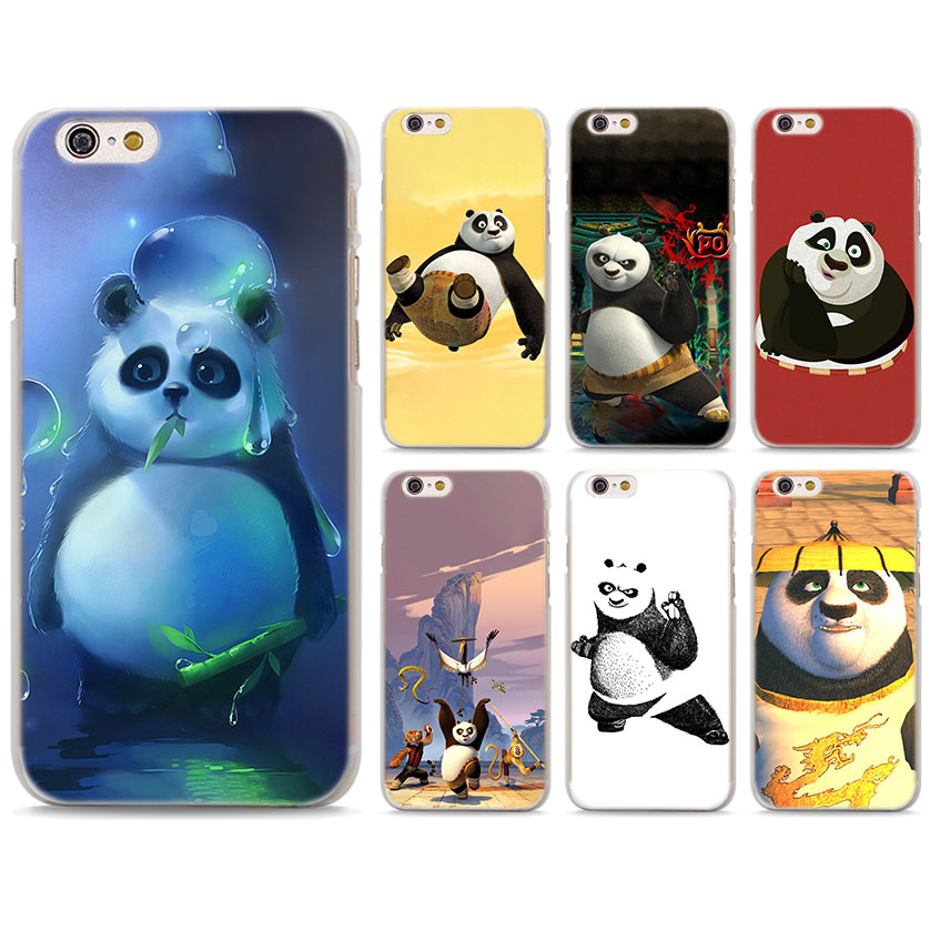 Kung Fu Panda Phone Cases Cover for Apple iPhone 7 8 Plus 6 6s Plus 5 5S X XR XS MAX hard PC case cover