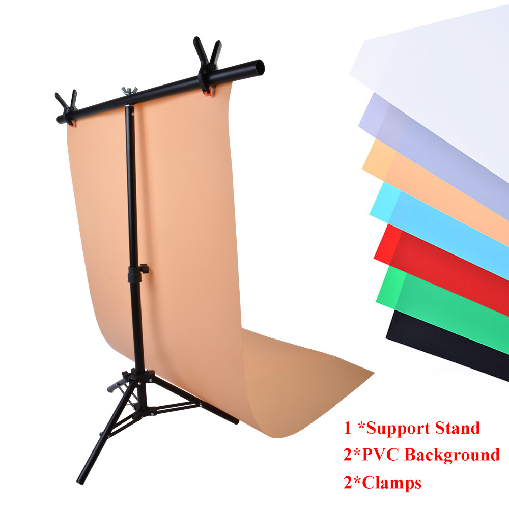 online shop photography 76x68cm pvc backdrop background support system stand t frame light stand with 2pcs clamp u0026 2pcs pvc backdrops aliexpress