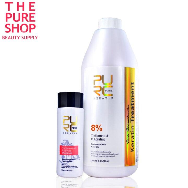 Pure kératine lissage 8% formlain réparer les cheveux endommagés et rendre les cheveux lissants et brillants chocolat odeur de haute qualité