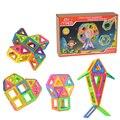 Niños juguetes educativos magnética diseñador 68 unids modelo bloques 2 unids rodillo 3d diy de construcción de juguete