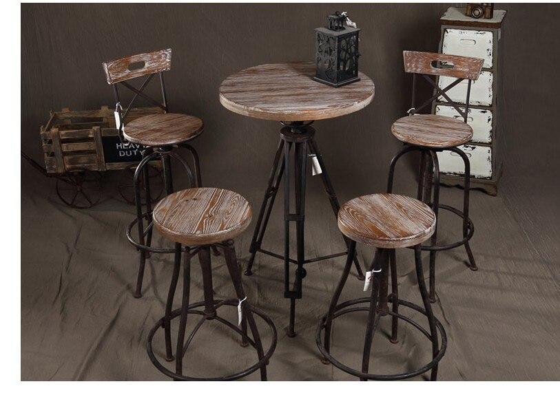 Американский железный ретро кофе столы и стулья сделать стар.
