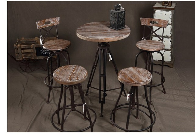 Awesome American Iron Retro Coffee Tables And Chairs Do The Old Wood Bar Tables And  Chairs Balcony