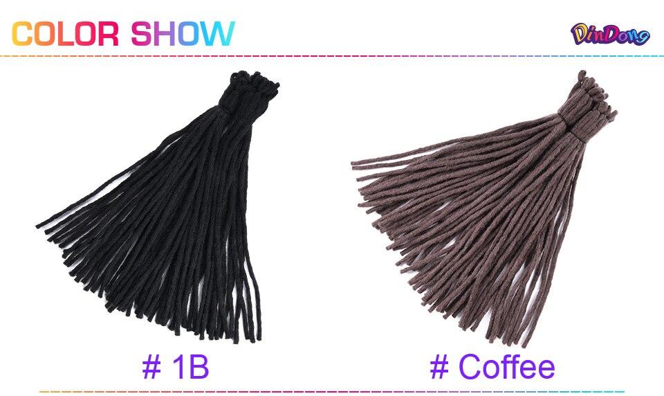 ΞDinDong 8 colores disponibles Crochet Dreadlocks extensión del pelo ...