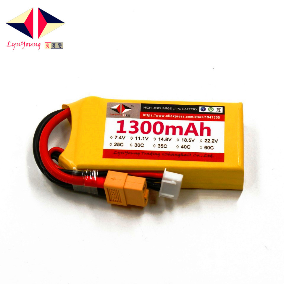 LYNYOUNG rc Lipo 3S battery 11.1V 35C 1300mAh for RC plane Helicopter Car Boat Truck