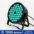 54x3W RGB LED Par Wash Light Dmx контроль звука сценическое освещение Профессиональный Dj свет проектор плоский Blacklight Party Club