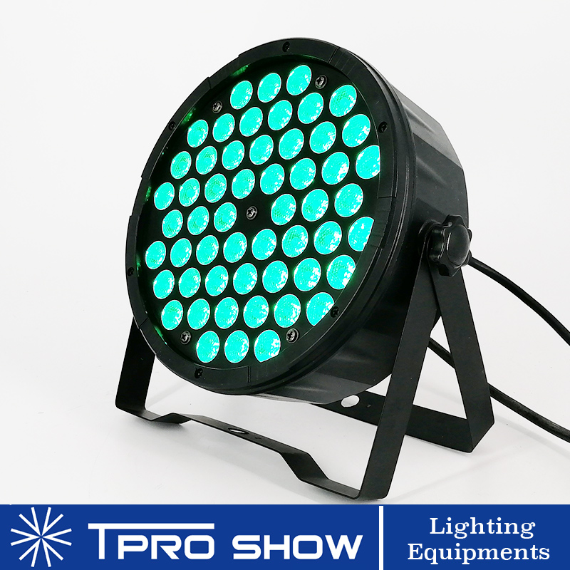 54x3W RGB LED Par Wash Light Dmx Sound Control Stage Lighting Effect Professional Dj Light Projector Flat Blacklight Party Club