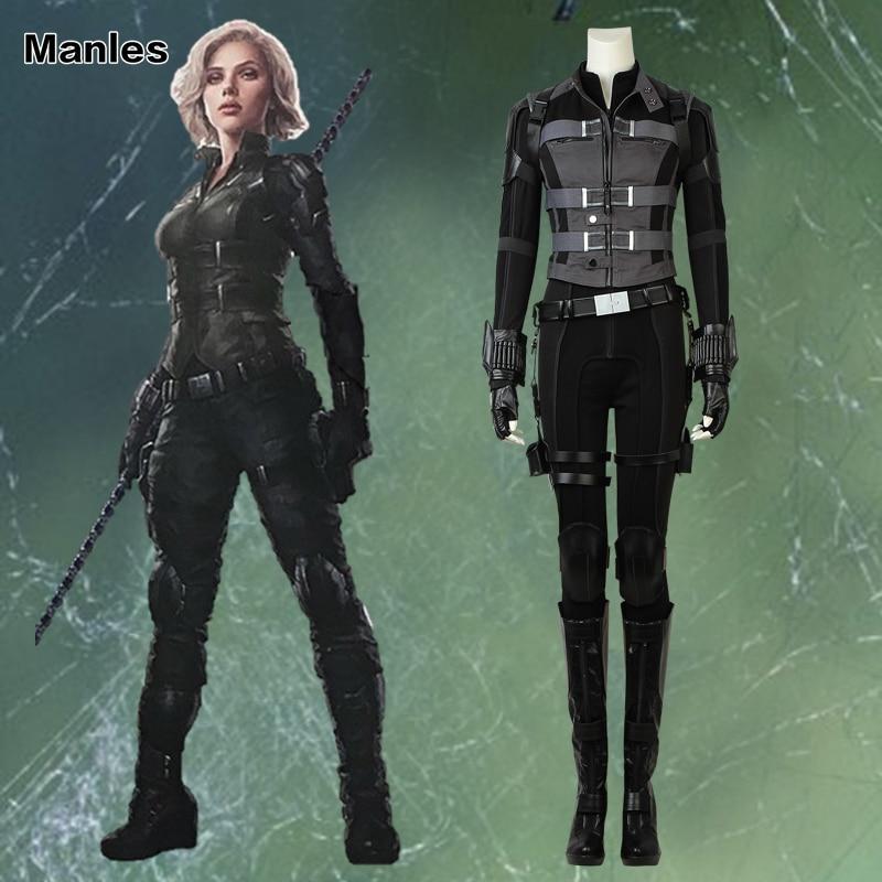 The Avengers Black Widow Natasha Romanoff Halloween Cosplay Costume