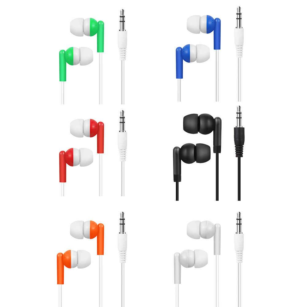 الأزياء دائم 3.5 مللي متر في الأذن سماعة سماعات الأذن ستيريو للرياضة الضوضاء عزل سماعة رأس لهاتف آيفون سامسونج الهاتف المحمول العالمي
