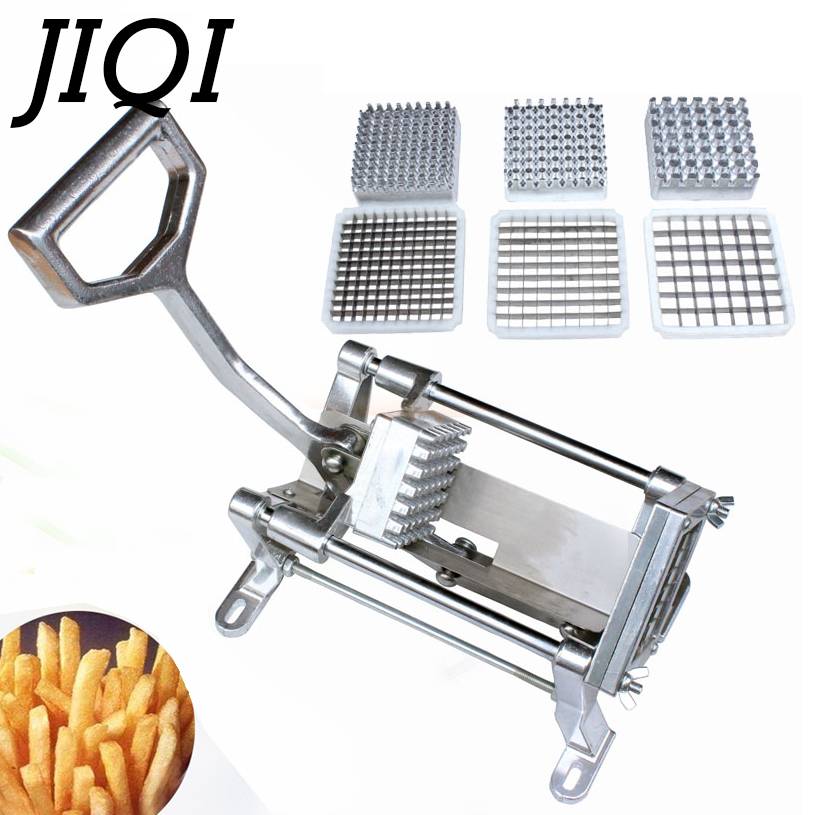 JIQI Alloy Steel French Fries Potato Strip Cutter Chips Cutting Machine manual potatoes Slicer Hand Push Vegetable fruit Chopper картофелерезка stainless potato chipper french fries slicer chip zesters slicer fg08082 ja