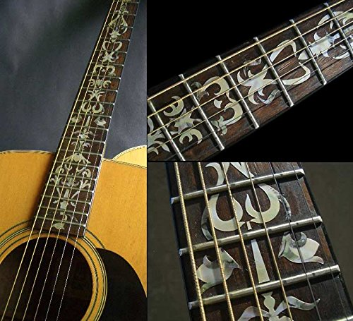 Fretboard Markers Inlay Sticker Decals for Guitar - Vine Of Tree - Mixed Color/White guitar or bass tree of life fretboard silver color inlay ultra thin sticker