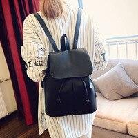 Brand Women's Drawstring Large Big PU Leather Backpack School bags Teenage Girls Backpacks for Women Backpacks
