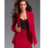 Professional Business Women Suits Custom made Red Autumn Winter Slim Fashion OL work office suits Skirt Suits