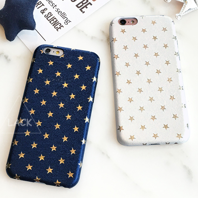 lack luxury gold stars cartoon pattern back cover for iphone 5s case