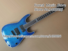 Blue Flame Top ESP H-351NT Classical Guitar Electrica Colorful Binding Guitar Body With Black Hardware Lefty Available