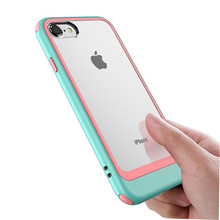 For IphoneX Mobile phone cases shock drop transparent double color PC for Iphone7 7P  XR and IphoneXSMAX X