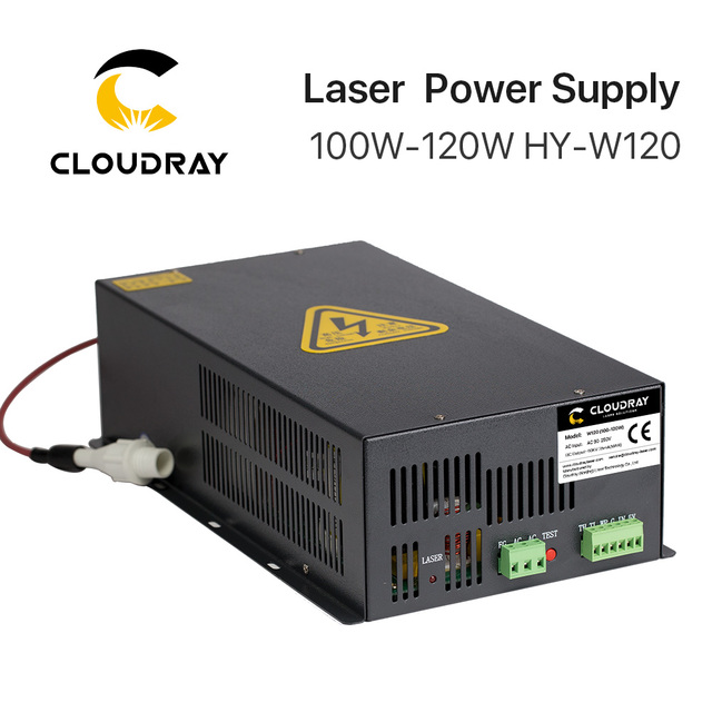 Cloudray fuente de alimentación láser CO2, 100 120W, para máquina cortadora de grabado láser CO2, HY W120 serie T / W