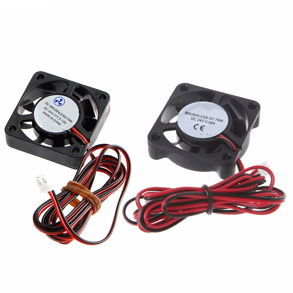 24V 2-Pin DC Cooling Fan 40mm 40x40x10mm 4cm 4010s 9Blade For 3D Printer CPU #H029# delta 4010 asb0412ha fk2 7372 hydraulic bearing cooling fan with 40 40 10mm 12v 0 1a 3 wires for bridge chip