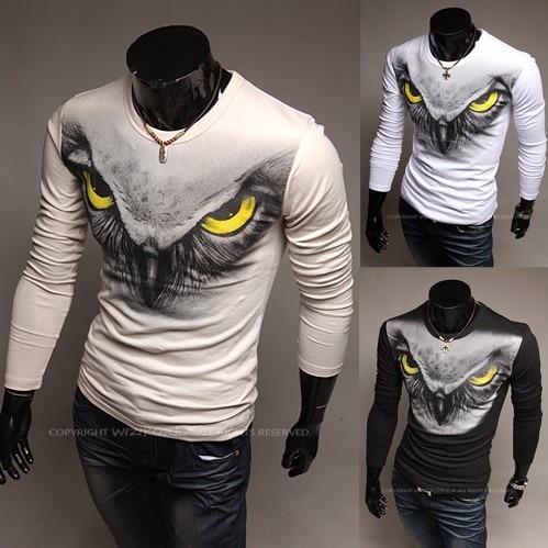 T Shirt Design 3D | Men S Long Sleeved T Shirt Design T Shirt Autumn Eagle Boy Funny