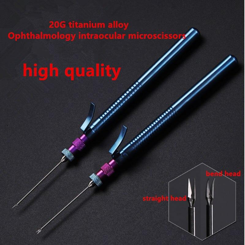 20G titanium alloy Ophthalmology intraocular microscissors Microscopic intraocular opthalmic scissors straight bend head