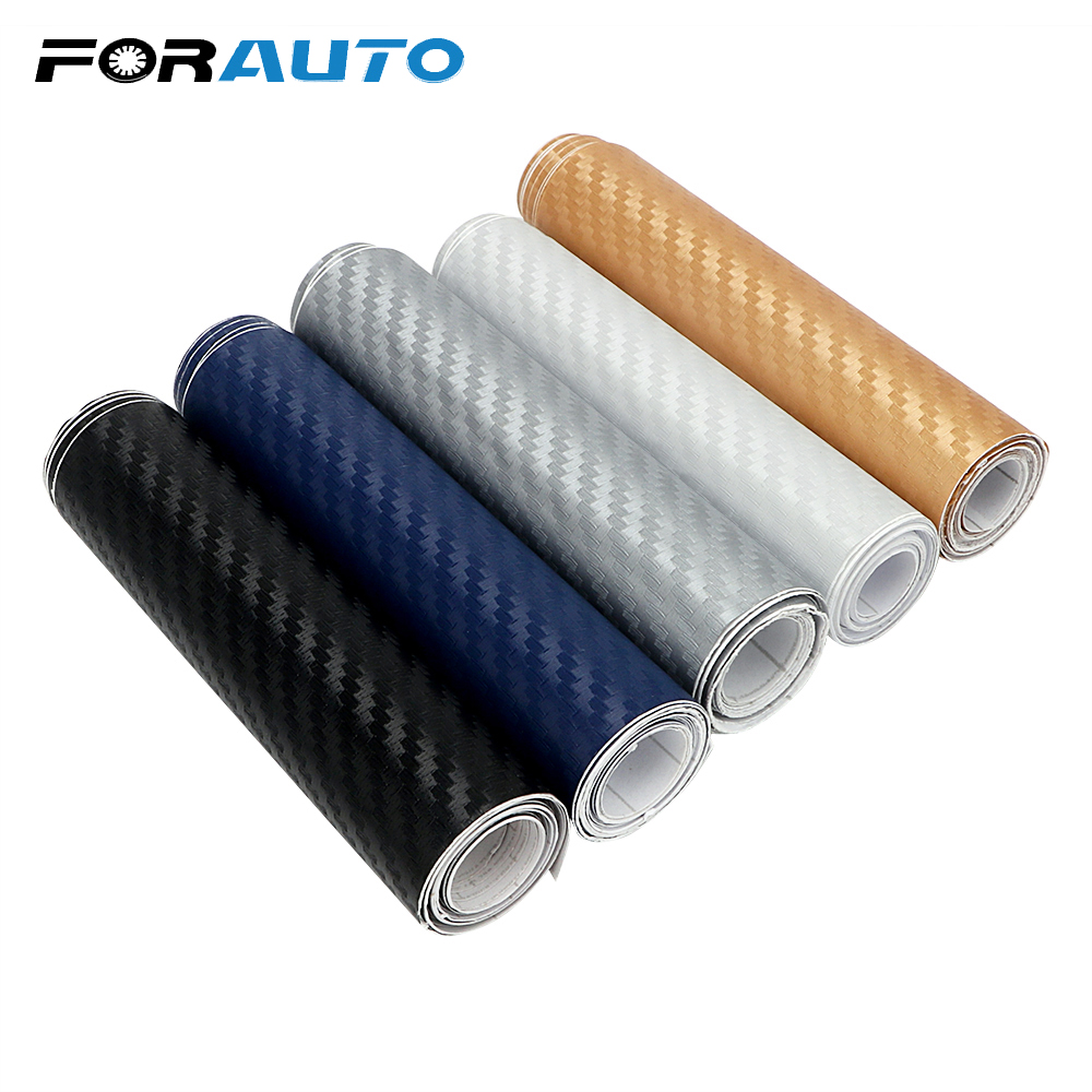 FORAUTO Car Styling Carbon Fiber 3D Car Stickers 10cm X 127cm Tint Vinyl Film