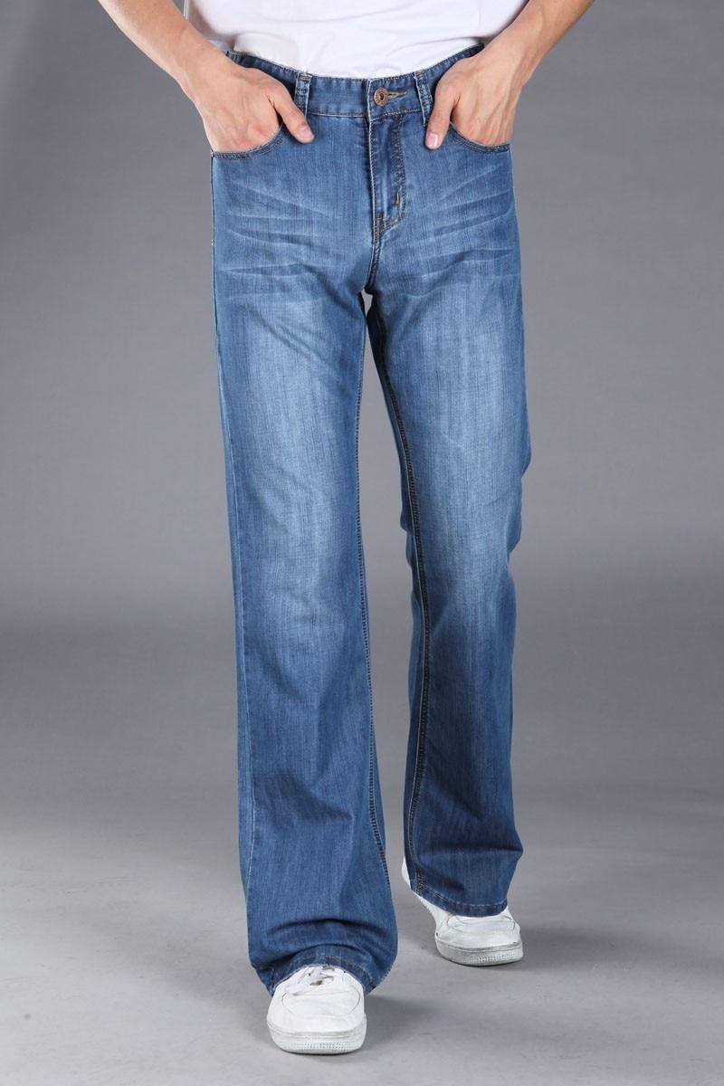 Pantallona xhinse bluzë me pantallona blu për meshkuj, pantallona - Veshje për meshkuj - Foto 3