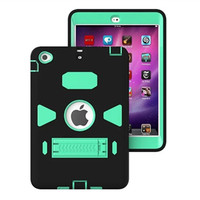For Ipad Mini 1 2 3 Inch 3 In 1 Case Cover PC SILICON Shockproof Drop