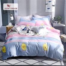 Slowdream Cartoon Dark Bedspread Quilt Cover Sheet Euro Style Nordic Bedding Set Decor Bedclothes Home Textiles Bed Linen