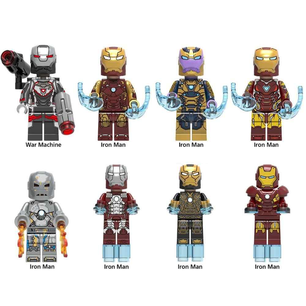 Marvel Мстители 4 Супер Герои Legoings Endgame Железный человек Капитан Америка паук войны танос Халк строительные блочные Фигурки игрушки