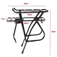 20'' 26'' 700C Aluminium Bike Rack Black Bicycle Carrier Mountain Bike Luggage Rack Trunk for A Bicycle Porte Bagage Velo MTB