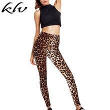 Лучший!  Женские леггинсы с высокой талией Чешские винтажные леопардовые с цифровым принтом Спортивные длин�