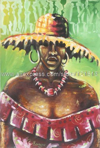 African Painting Acrylic Market Queen Handmade Ghana Oil Paintings Home Decoration Wall Pictures For Living Room