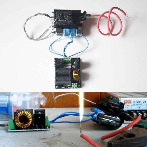 Placa Driver Zero Voltage Switching ZVS Flyback Aquecedor Indutivo + bobina de ignição 12-36 V DC