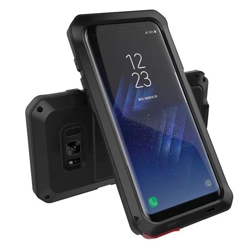 imágenes para Resistente a prueba de golpes Híbrido de Metal Anti Choque Heavy Duty Armor Case Para Samsung Galaxy S5 S6 S7 S8 Plus borde Del Teléfono Cubierta Protectora