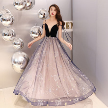 Evening Dresses Fashion Embroidery Bandage Sequined Party Gowns Sexy Spaghetti Strap Floor length Long Formal Prom Dress E057 цена и фото