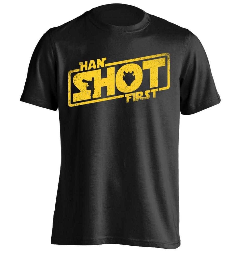 Хан выстрелил первым-Мужская персонализированные футболка Дизайн Tee
