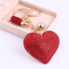 Romantic Heart Jewelry Key Holder Chain Ring  Pendant Charm